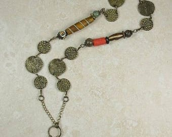 Antiqued Gold Trinket Necklace