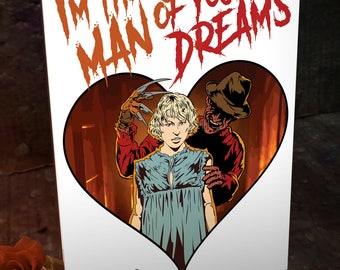 Freddy Krueger Nightmare on Elm Street Valentines Day Card