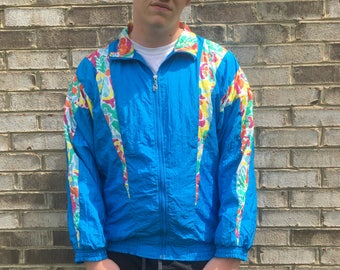 Funky Blue XL Windbreaker