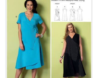 Sewing Pattern for Misses'/Women's Wrap-Front Dresses with Overlays, Butterick Pattern 6359, Plus Sizes to 6X Available, Connie Crawford