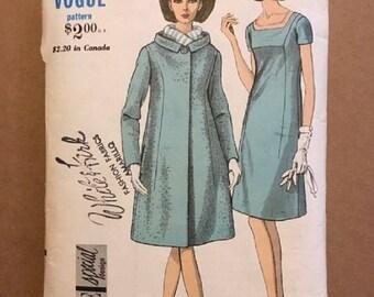 Vintage 1960's Vogue Special Design Pattern Dress and Coat!   Size 16 Bust 36 Hip 38