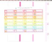 Happy Unicorn Rainbow Weekly Habits Labels Stickers Vertical Horizontal Erin Condren Life Planner ECLP Mambi Create 365 Cute Poo Fantasy