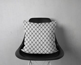 Monochrome Pillow, Black White Pillow, Modern Pillow Cover, Black Pillow, Contemporary Pillow, Diamond Pillow, Throw Pillows, Accent Pillow