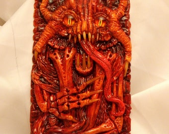 A terrible creature from another world .Flexible and hard-shell case,handmade , author (one of a kind) a case for the phone