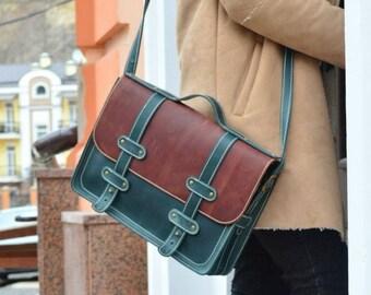 Leather Laptop Bag, Leather Satchel Bag, 13 inch laptop bag, Laptop bag leather, Leather bag laptop, Laptop briefcase, Leather laptop case