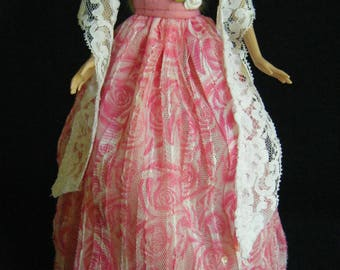 Barbie Ball Gown, barbie shawl, barbie clothes, barbie doll clothes, barbie dress, barbie doll dress, fashion doll clothes, barbie doll