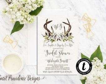 rustic bridal shower invitation printable bridal shower invite editable bridal shower invitation cotton