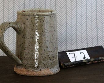 Ash Glazed Stoneware Mug/ Cup/ Coffee Cup/ Dishware/ Handmade/ Grey-Green/ Simple/ #72