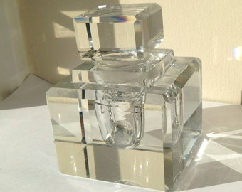 Large Crystal Inkwell