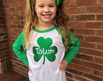 Girls St. Patrick's Day Shirt- St. Patrick's Day Shirt - Kids St. Patricks Day - St. Patty's Day Shirt for Girls - Girls Shamrock Shirt -