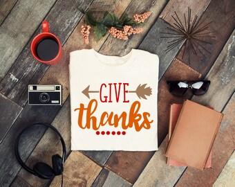 Give Thanks svg, thanksgiving svg, fall svg, autumn svg, baby outfit svg, first thanksgiving svg, holiday svg, svg file, cricut cut file