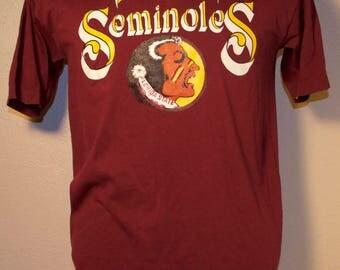 Vintage Florida State Seminoles T-Shirt NCAA M Medium Garnet