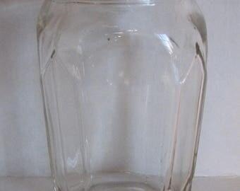 1970s Jar Anchor Hocking Glass Orange Top 1978 Storage Container 8046
