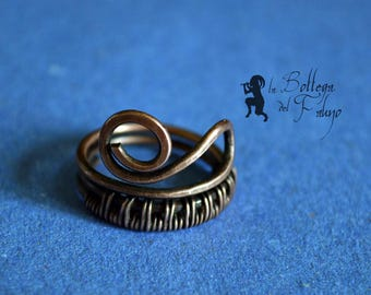 Celtic spiral copper ring