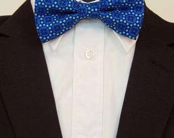 Blue Bow Tie, Blue Bowtie, Mens Bow Tie, Mens Bowtie, Contemporary Bow Tie, Modern, Wedding, Prom, Fathers Day, Birthday, Gift, Dad, Bride