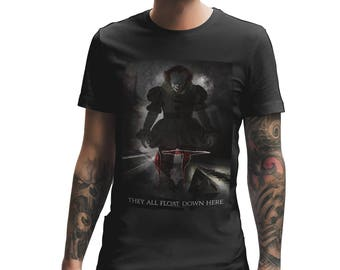 IT FILM Clown Movie T Shirt, It Movie, Scary Horror Movie, Mens T Shirt, Stephen King, Pennywise, Clown T Shirt 726