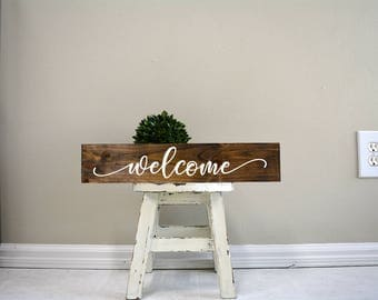 welcome sign, welcome wood sign, welcome wedding sign, welcome sign front porch, wooden sign, custom wood sign, custom wooden signs
