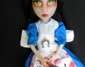 OOAK Alice Madness Returns Monster High Doll Repaint