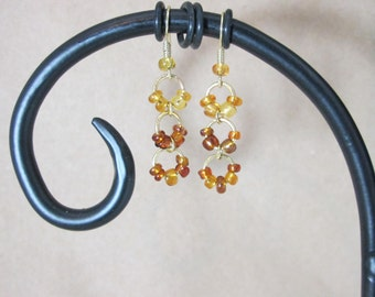 Caramel Glass Beads Earrings