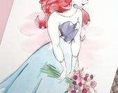 Impression A4 Ariel robe bleue