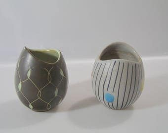 Pair of small vases by Steuler no. 3966/10  west german pottery, wgp, retro, vintage
