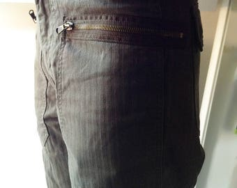 Brown green Benetton men trousers Italian vintage fashion