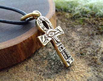 Anhk necklace, Bronze Ankh Pendant, Egypt Jewelry, Key of life, ankh necklace for men, Egyptian Necklace anhk, anhk Mythology, hieroglyph