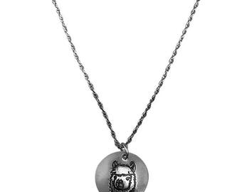 Alpaca Silver Pendant Necklace, Farm Jewelry, Pet Jewelry, Animal Lover Gifts