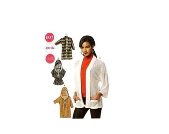 2000 Sewing Pattern - McCalls 6802 - Knit Cardigan UNCUT