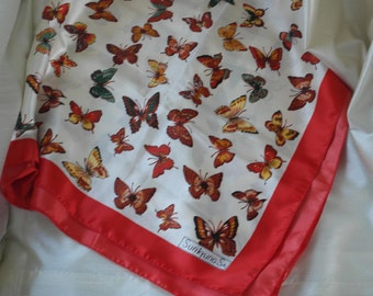 Vintage Sunkyung SA butterfly scarf