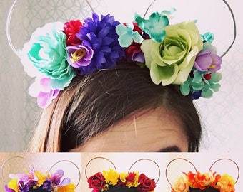 Flower Crown Mouse Ears