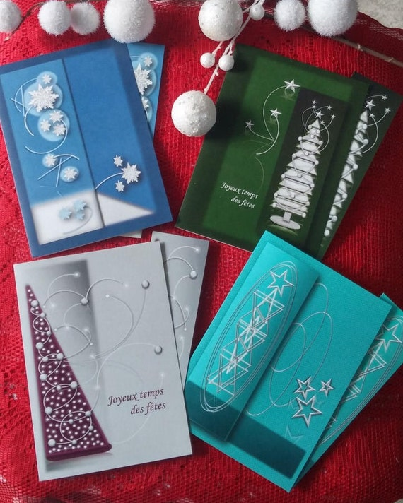 4 cards of discount/Christmas parties/cards geometric / energy cards new year/wishes for the holidays / Christmas greeting