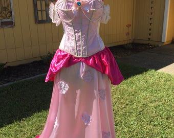 Princess Peach Costume, Nintendo Princess Peach Dress, Nintendo Cosplay Costume, Adult Halloween Costume, Princess Peach Cosplay