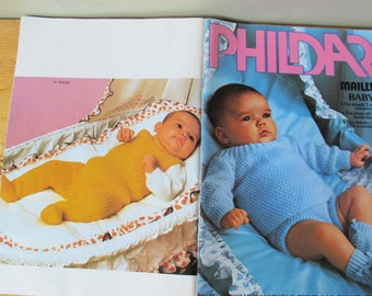 Phildar Mailles Baby Clothes Knitting Pattern Booklet 41: Birth to Eighteen Months