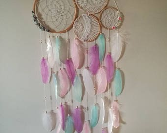 Pastel floral wall decor