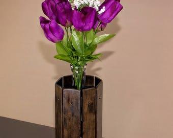 Wooden Bud Vase, Long Stem Vase, Maple Vase, Unique Bud Vase, Small Flower Vase, Wooden Vase, Wood Flower Vase, Dried Flower Vase
