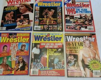 6 vintage pro wrestling magazines - the wrestler 1987 - 1997  - wwe wwf awa ecw nwa sports shawn michaels jarrett savage ddp sunny hart #L