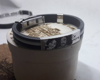 UNISEX bracelet-engraved with photo and short text