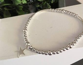 Bracelet beads /tubes silver