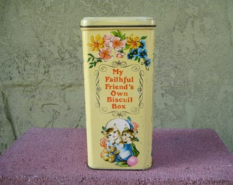 My Faithful Friend's Own Biscuit Tin Box