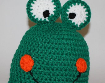 Baby frog hat