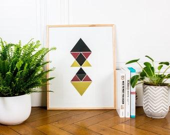 Silkscreen 40x50cm - Geometric poster