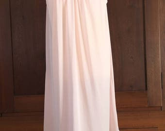 M / Shadowline Nightgown / Pink Vintage Gown / Medium