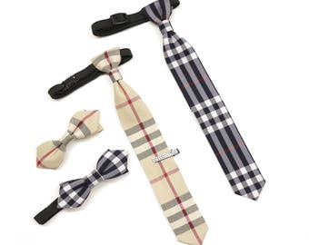 Bow Tie, Bow Tie for Boys, Checkered Bow Tie, Necktie, Tie for Boys