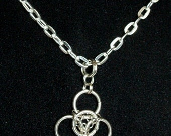 Trinity Celtic Knot Chainmaille Necklace Chainmaille Necklace