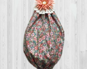 Bag Organizer - Grocery Bag Holder - Kitchen Wall Decor - Plastic Bag Holder - Peach Decor - Kitchen Storage - Shopping Bag Holder, Kitchen