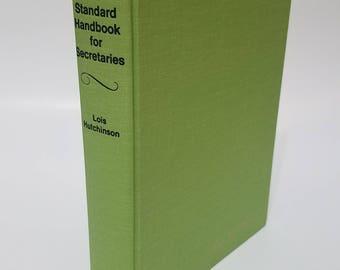 "Vintage Book ""Standard Handbook for Secretaries"" Eight Edition 1972 Hardcover"