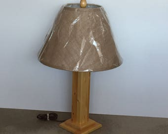 Tri Lite Knotty Pine Table Lamp_New_Hand Crafted by seller