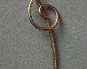 Treble Clef scarf or shawl pin