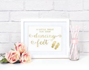 Wedding Flip Flops Sign, Wedding Flip Flop Sign, Dance Floor Reception Sign, Flip Flops For Wedding Guests, Dancing Shoes Sign